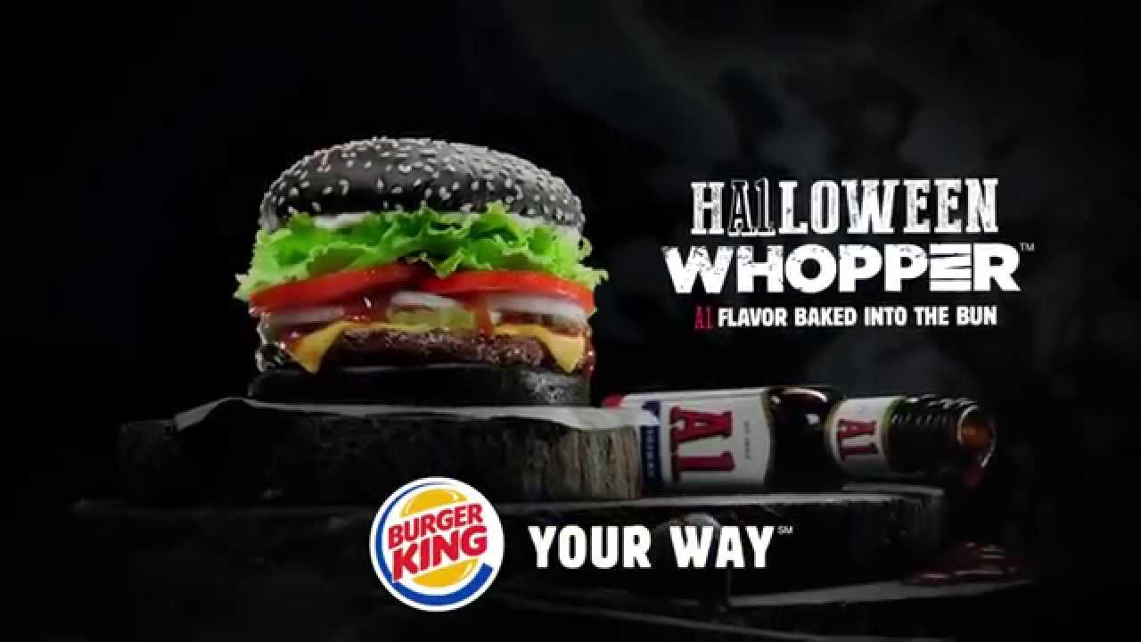 2015) Burger King Halloween Whopper Commercial - YouTube
