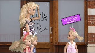 Barbie - chelsea gets her ears pierced