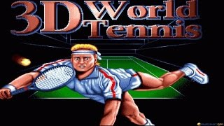 3D World Tennis gameplay (PC Game, 1992)