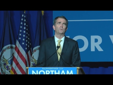 WATCH: Democrat Ralph Northam, projected governor-elect in VA, addresses supporters