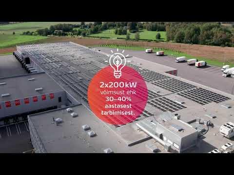 Meil on Päikest. Omniva logistikakeskuse päikesepaneelid.