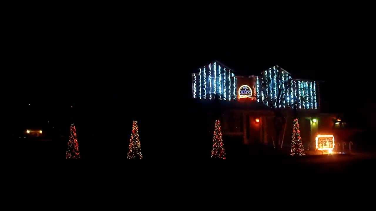 Cadger Dubstep Christmas Lights House 2012 - Full Show - YouTube