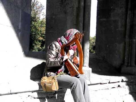 Celtic Harp at Corcomroe Abbey
