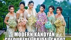 Modern Kandyan Bridal Group By Salon indu & Mala saree
