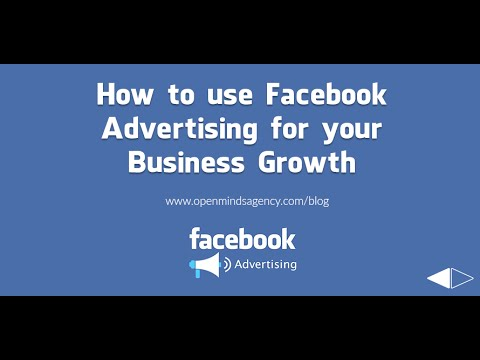 How to use Facebook Advertising for your Business Growth