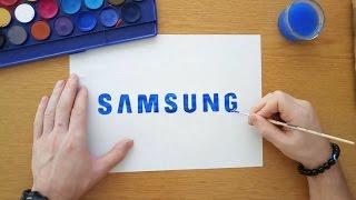 How to draw a simple Samsung logo (Logo drawing)