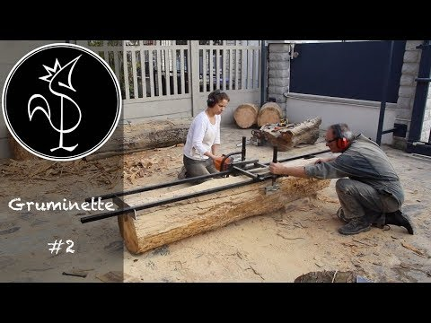 sciage de planches la tron onneuse sawing boards wi doovi. Black Bedroom Furniture Sets. Home Design Ideas