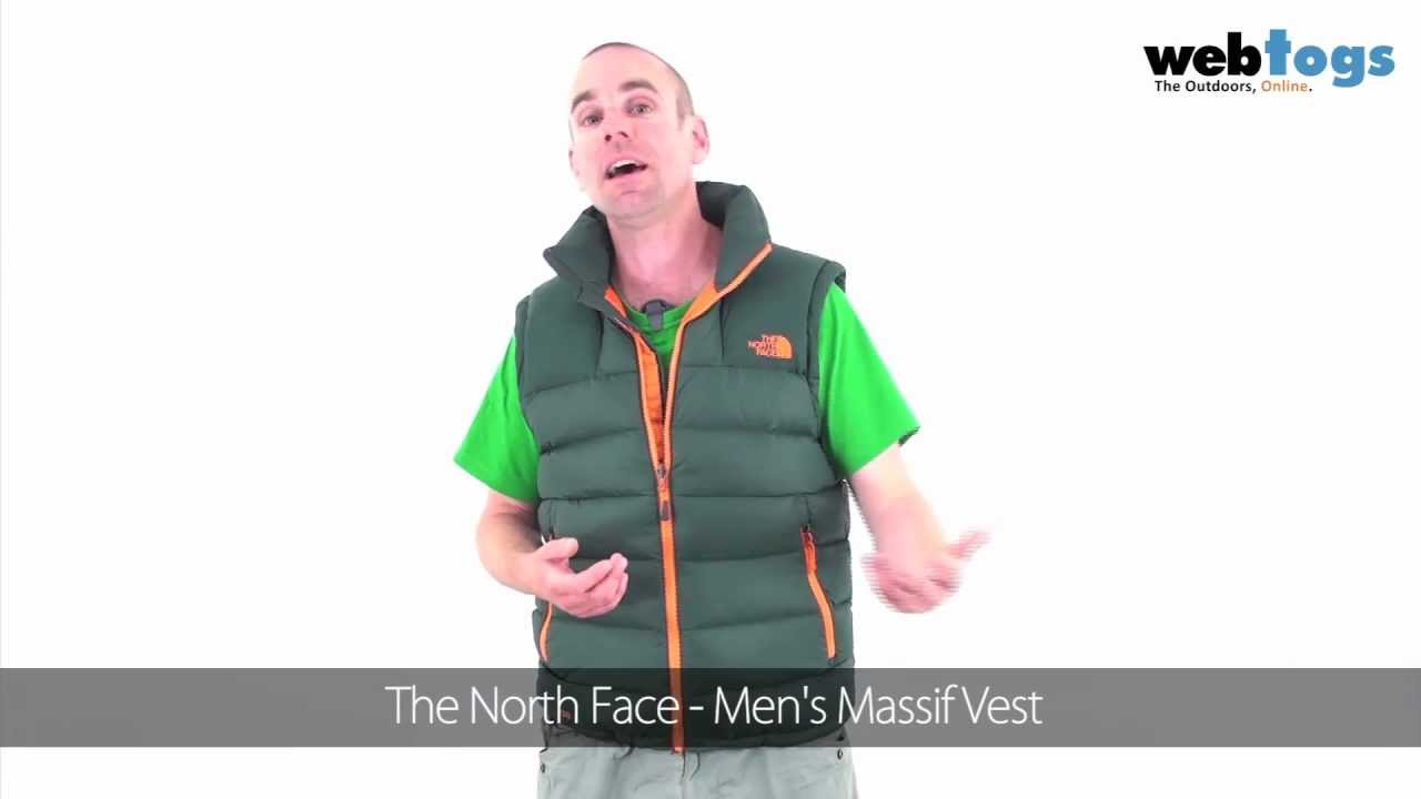 9097ea12bd The North Face Men s Massif Vest - Down Vest for core body warmth. - YouTube