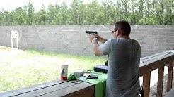 Shooting Range 25 yards Glock G23 spread .40 cal Caliber Recoil Compact Gun