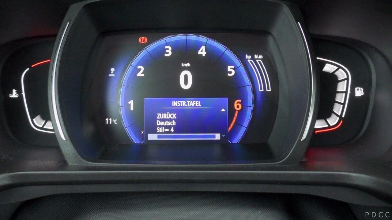 2016 Renault Kadjar Digital Instrument Panel Digital