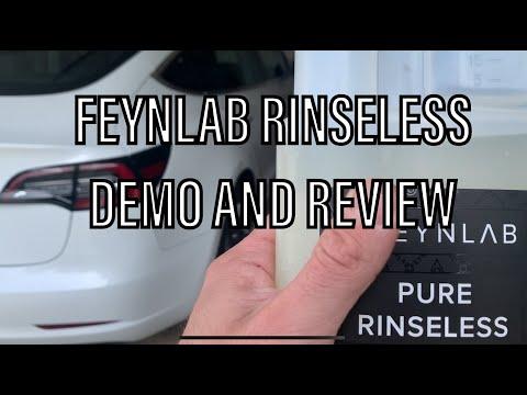 Feynlab Pure Rinse-less Wash review and demo | Tesla model 3 | Feynlab ceramic
