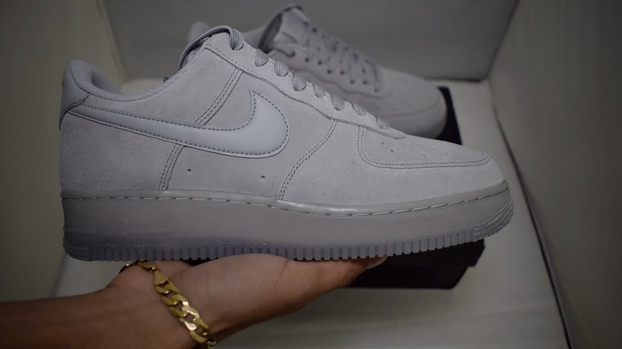 Nike Air Force 1 Grey Suede Unboxing