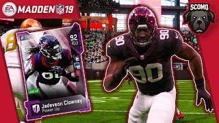Best Card In The Game!? Diamond Power Up Jadeveon Clowney - Madden NFL 19 Gameplay