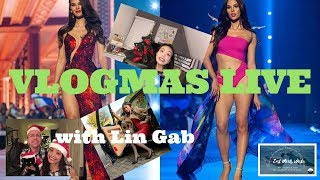 VLOGMAS LIVE with Lin Gab | CONGRATULATIONS CATRIONA GRAY!  MISS UNIVERSE 2018 | ft Lin on the Go
