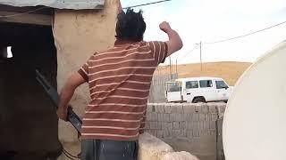 الأردن - مواطن اردني يطلق العيارات النارية على الامن العام