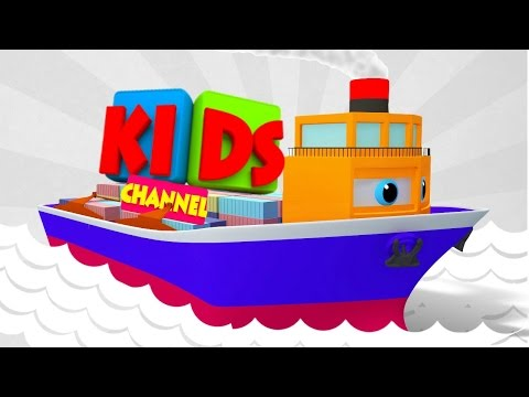 Ship | sea vehicles for children | 3D videos by kids channel
