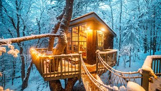 Unique & Cozy Winter Getaways (Treehouse, A-frame, Log Cabin)