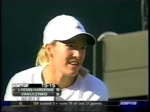 Henin Vs Valkulenko Wimbledon 2003