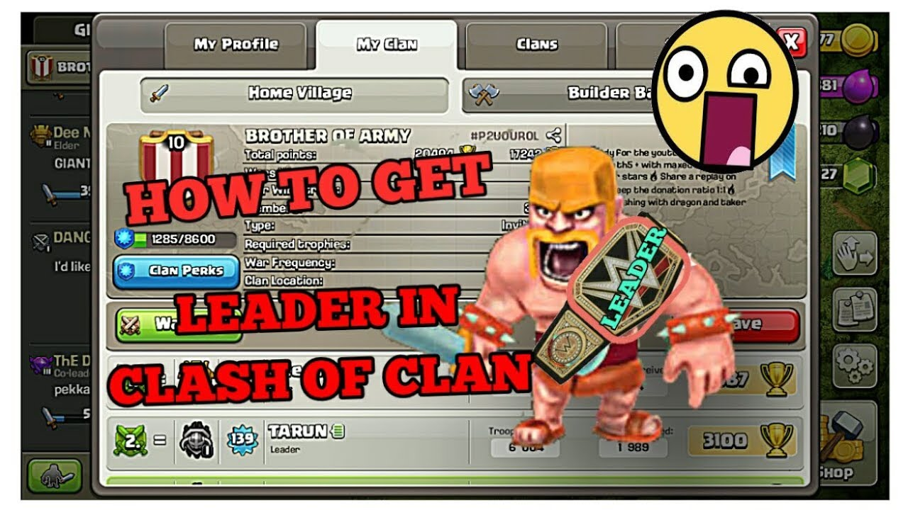 How to get leader without hacking in clash of clans
