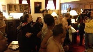 Naked AIDS Activists Occupy Boehner's Office