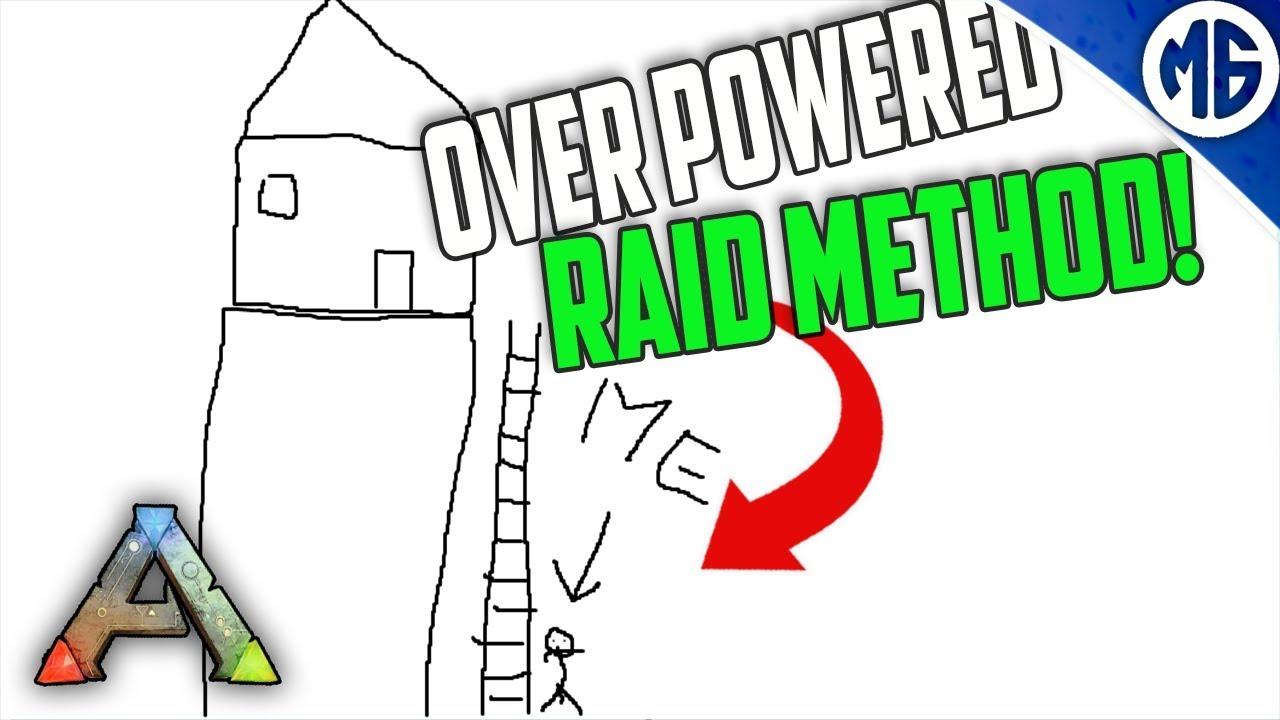 MOST OP SNEAKY RAID METHOD! (NO SOAKING) 3 Man PvP Servers - Ark: Survival  Evolved