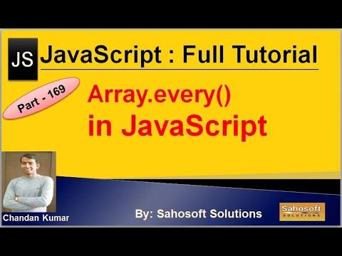 Array every in JavaScript | JavaScript Full Tutorial in Hindi thumbnail
