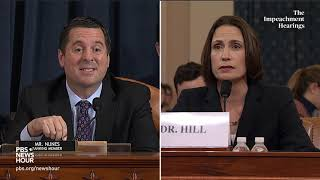 WATCH: Rep. Devin Nunes' full questioning of Hill and Holmes | Trump impeachment hearings