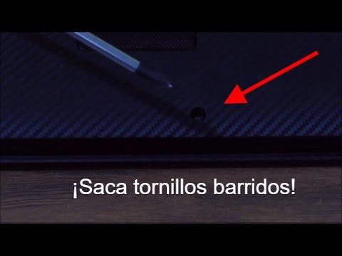 Tutorial: Como quitar un tornillo barrido de una laptop, computadora, etc.