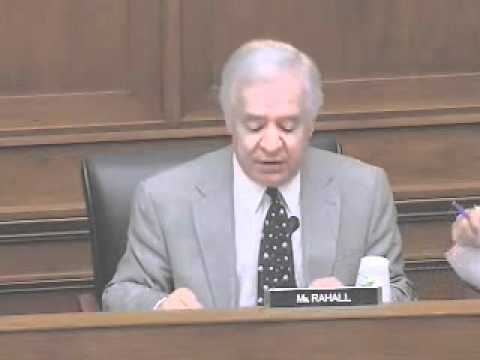 Committee on Transportation and Infrastructure Ranking Member Rahall