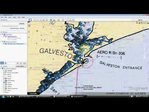 Galveston Bay Fishing Map
