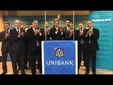 Listing ceremony of Unibank OJSC at the NASDAQ OMX Armenia.