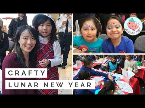 Crafting with 300 Kids! Lunar New Year at Queens Center, NYC