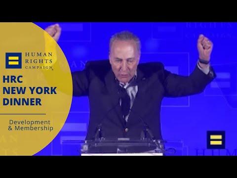 Senator Chuck Schumer Speaks at HRC New York Dinner