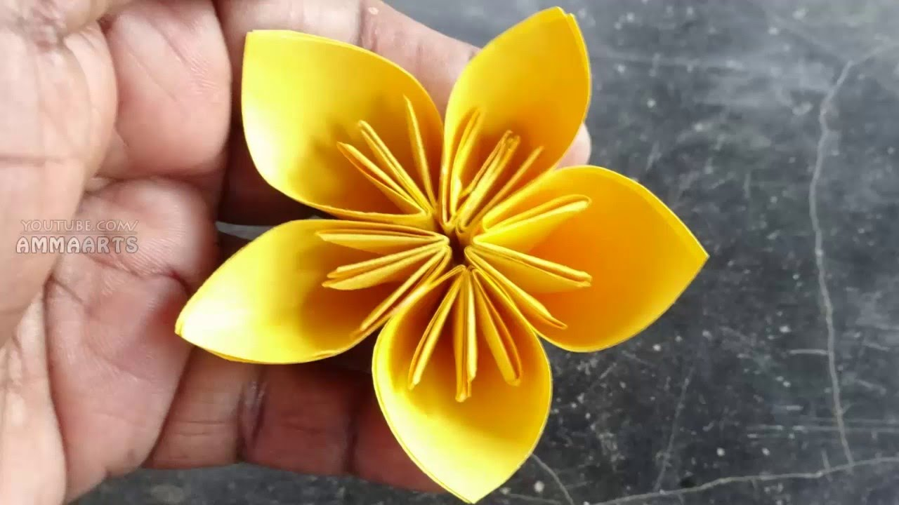 How to make paper flower paper arts paper flower by ammaarts how to make paper flower paper arts paper flower by ammaarts mightylinksfo