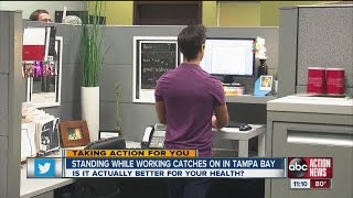 Standing desk trend taking off in Tampa