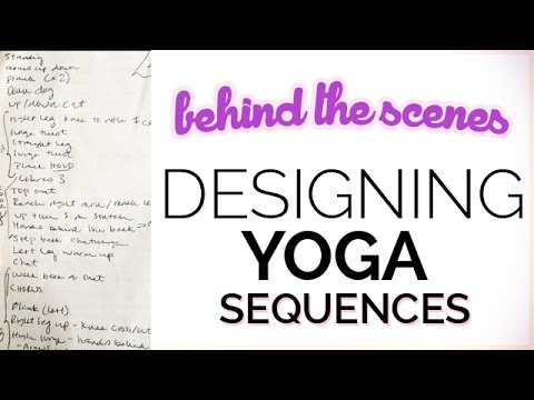 How I Design My Yoga Sequences (behind-the-scenes look at my yoga notebook)