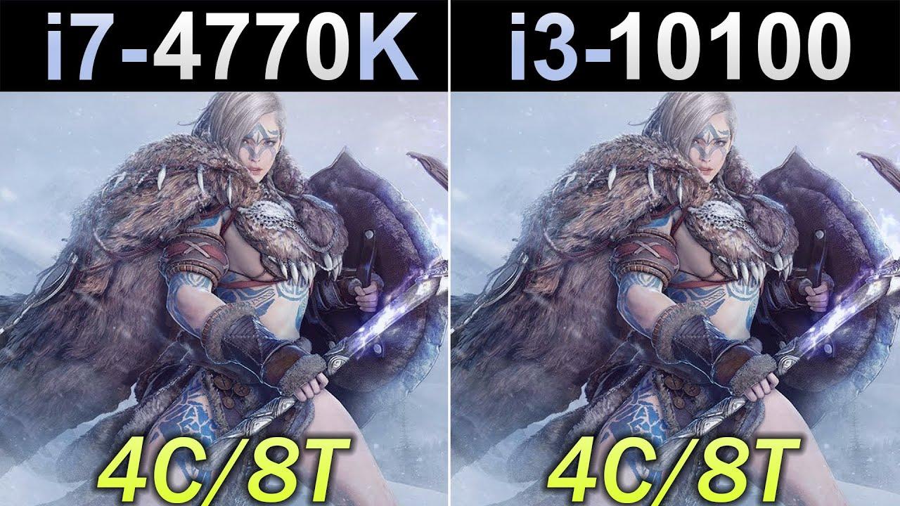i7-4770K (4.4GHz) Vs. i3-10100 | New Games Benchmarks