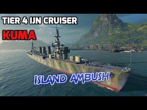 World of Warships - Ship Review: Kuma (WoWs gameplay)
