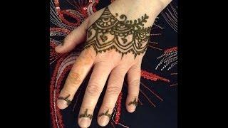 Rihanna Inspired Henna Hand Tattoo