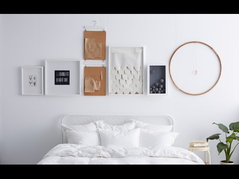 Ikea Ideas How To Hang Pictures In A Straight Line Youtube