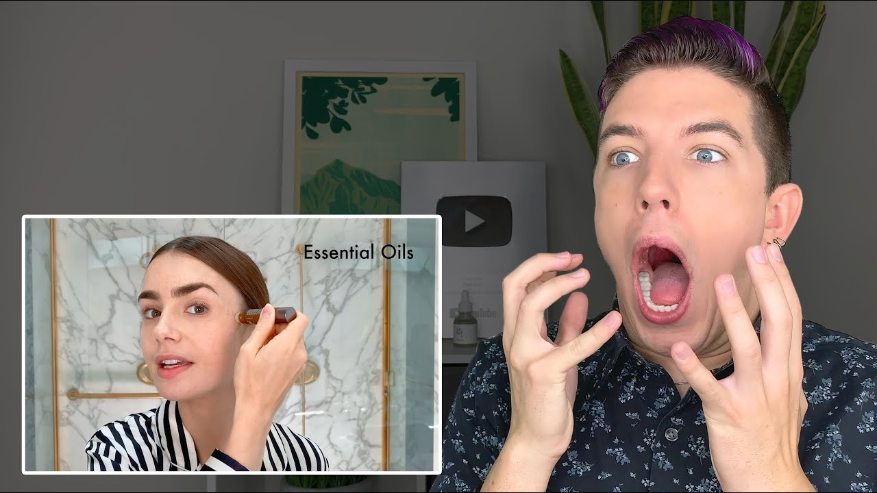 Specialist Reacts to Lily Collin's Skin Care Routine