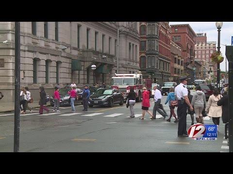 Providence City Hall Holds Evacuation Drill