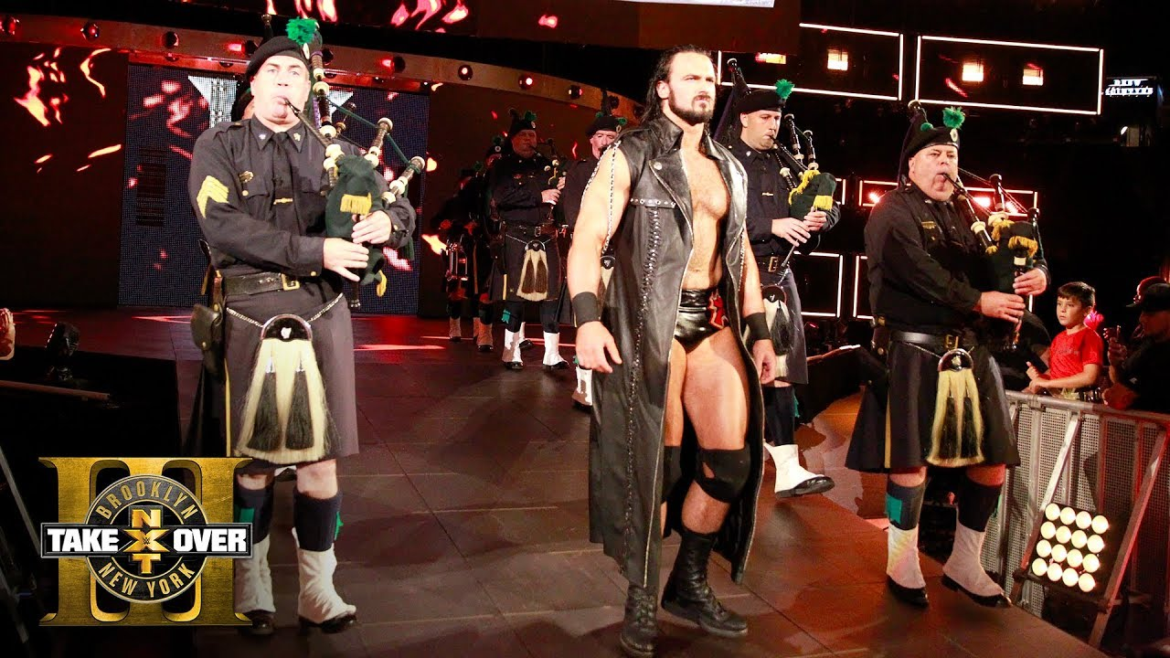 Download NYPD Pipes & Drums band leads Drew McIntyre's entrance to the ring: NXT TakeOver: Brooklyn III