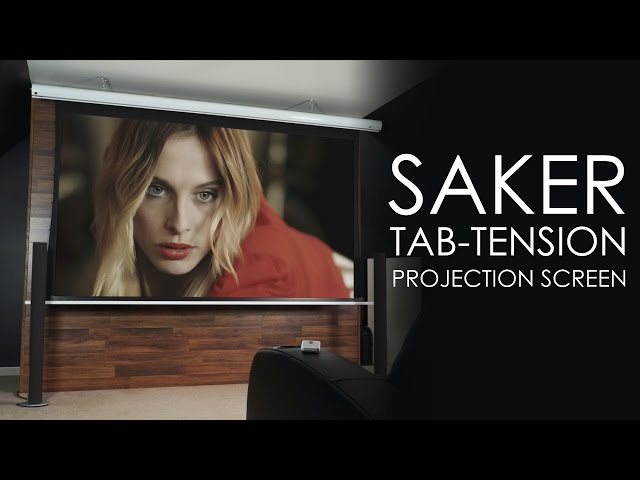 Elite Screens Saker Tab-Tension Front Projection Screen