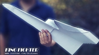 MY LARGEST PAPER AIRPLAN E - How to make a Giant Paper Plane that FLIES | King Fighter