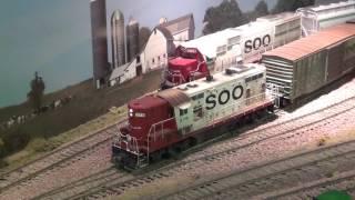 Video 3 Train Layout Shelf HO Driline