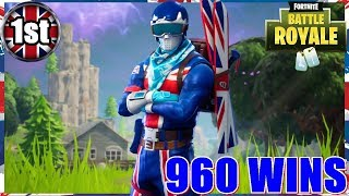 Amazing NEW SKINS!! - FORTNITE BATTLE ROYALE - 960 WINS - (PS4 PRO) Full HD