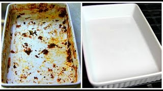 How To Clean Baked On Greasy Casserole Dish - Food FAQ | Chris De La Rosa