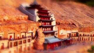 Mogao Caves in Dunhuang(China)_敦煌・莫高窟(中国) [miniature 4世紀頃]