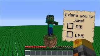 Minecraft DON'T DO THE WRONG DARE !! SURVIVE BY DOING PRANKS !! Minecraft Mods